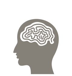 Head a brain vector image