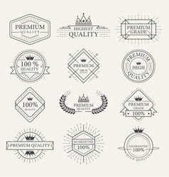 Premium quality guarantee labels and badges vector