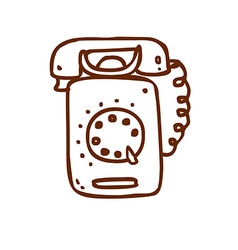 Hand drawn telephone vector
