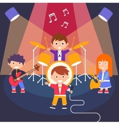 Kids rock band vector