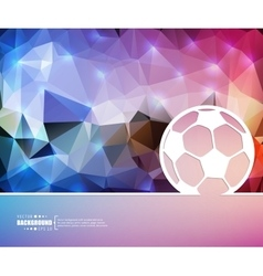 Creative ball football art vector