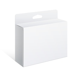 White package box for software electronic device vector
