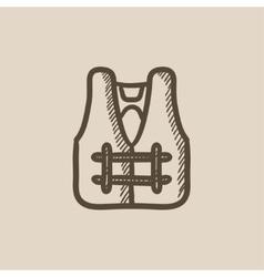 Life vest sketch icon vector
