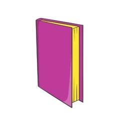 Book icon cartoon style vector