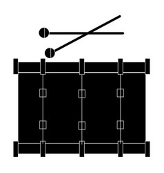 Band drum musical instrument vector