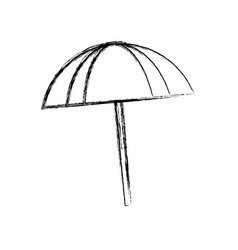 Beach umbrella isolated vector