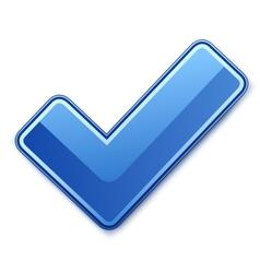 blue check mark vector image