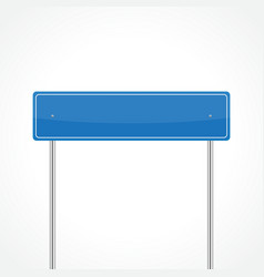 Blue traffic sign vector image