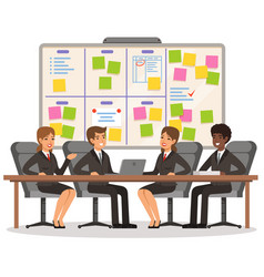 Business team working and make some planning on vector