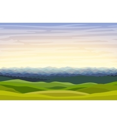 Cartoon horizontal landscape background vector image
