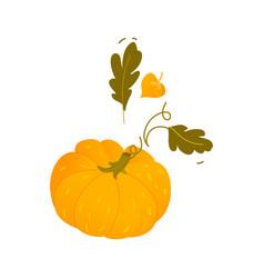 cartoon pumpkin halloween thanksgiving symbol vector image vector image