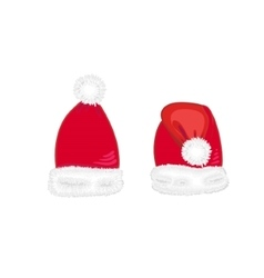 Christmas red hat vector