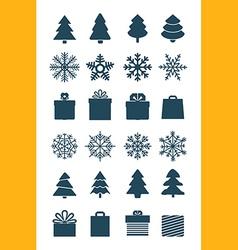 Christmas season elements collection vector image vector image