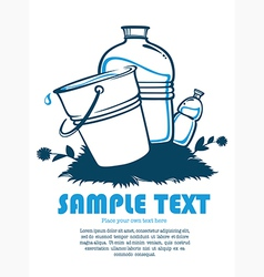 clean water vector image