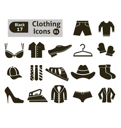 Clothing icons vector image vector image