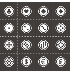 Dice icon set vector image