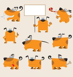 Dog set3 vector image vector image