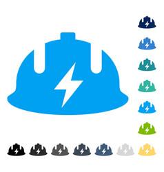 Electrician helmet icon vector