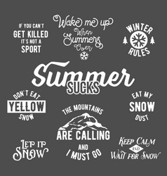 famous quotes about winter sports vector image