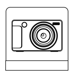 Figure digital professional camera icon vector
