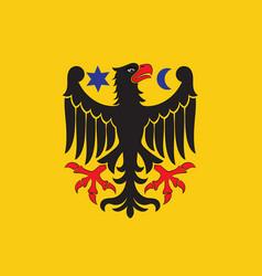Flag of orebro city in orebro county of sweden vector