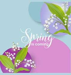Floral spring design template for card sale banner vector