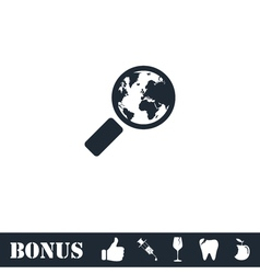 Global search icon flat vector image