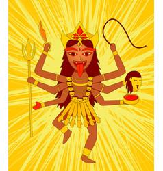 Kali on yellow background vector