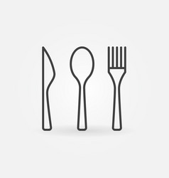 knife spoon and fork icon vector image