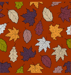 Leaves seamless fall 6 vector