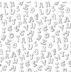 letters hand written pattern vector image vector image