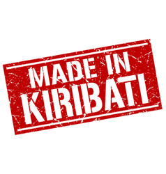 made in kiribati stamp vector image vector image