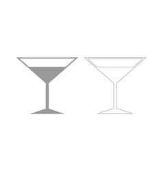 Martini glass the grey set icon vector