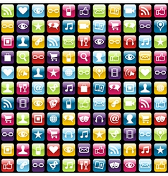 Mobile phone app icons pattern background vector