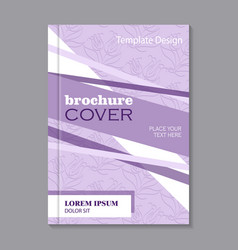Modern brochure cover design vector