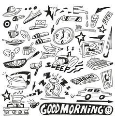 Morning doodles vector