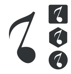 Music icon set 3 monochrome vector