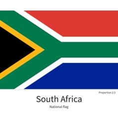 National flag of south africa with correct vector
