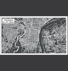 Philadelphia pennsylvania usa map in retro style vector