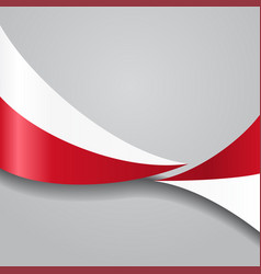 polish wavy flag vector image