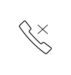 rejected call icon vector image