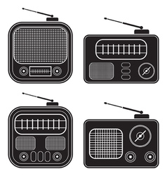 Retro radio receivers vector