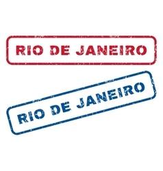 Rio de janeiro rubber stamps vector