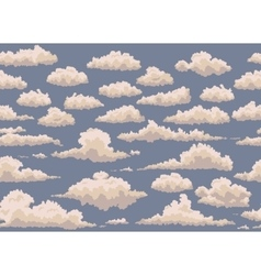 seamless with vintage clouds vector image vector image