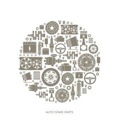 Set of auto spare parts vector