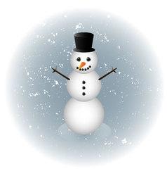 Snowman alone in winter vector