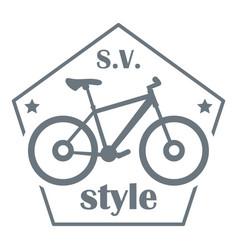 Sv bike style logo simple style vector