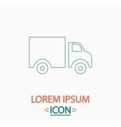 Truck computer symbol vector