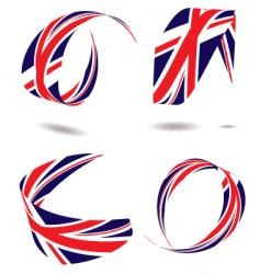 union flag ribbon vector image