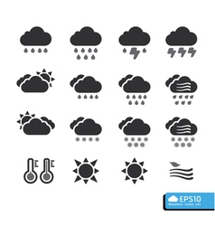 Weather Web Icons Set for web template vector image
